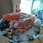 Lobster and crab lunch