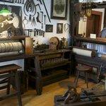 Mechanical Music Museum workshop, log rolls