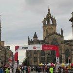 Downtown Edinburgh during the Fringe festival!