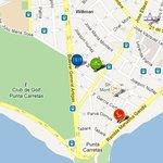 Mapa de la zona del hotel (Punta Carretas) HERMOSO BARRIO