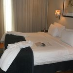 Bed in master bedroom