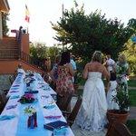 Wedding breakfast table al fresco