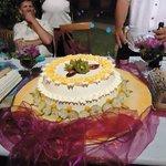 Locally made wedding cake