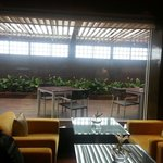 View of the outdoor executive lounge .... It's greenery