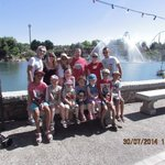Family photo on theme park