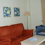 Amplio,sofa y tv antiguas