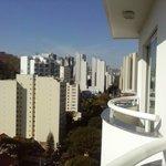 vista do apartamento - varanda