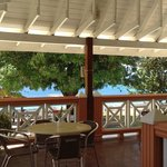 lunch on the terrace overlooking pool and sea