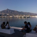 Boats and a mountain in Puerto Banus