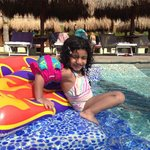 My daughter inside the pool
