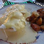eggs benedict with pumpkin hollandaise sauce