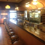 Diner counter in front