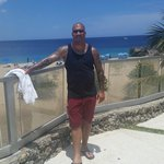 At the beach, only 100 meters from our amazing hotel....Casa Valeria!!!! July 2014