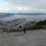 view over Bergen from the viewing platform at Mt Floien Station