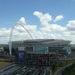 view of Wembley Stadium from the room