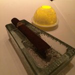 Unbelievable and totally edible chocolate cigar for dessert!!