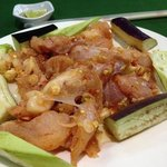 crocodile meat, taste like pork