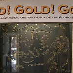 shows the size of gold that's found on the creeks in the Yukon