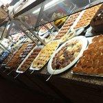 Desert options from the lunch buffet