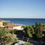 Savinosa Beach, the view from our balcony