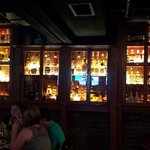 Miller House Bar with over 300 bottles of whiskey.