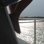 Atardecer desde el catamaran