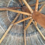 under the hut