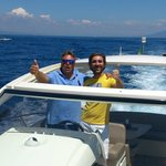 Ivan and Gisepe on our boat trip...amazing
