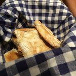 Unique flatbread made on pan.