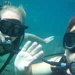 Having a nice time underwater