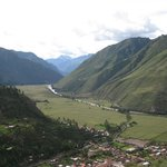 View of the Sacred Valley of the Inca