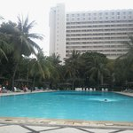 Poolside view of hotel