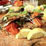 Pan fried Cornish sardines on toast