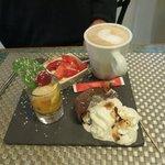 Generous dessert at Le Pigionnier