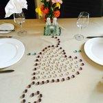Table setting for birthday dinner...