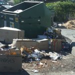 The dumpsters were overfull and this is after trash pickup and it stunk