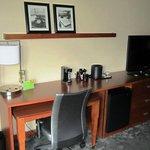 Desk, Frig & TV