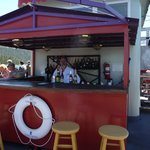 The bar on top of the boat