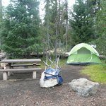 tent area/picnic table