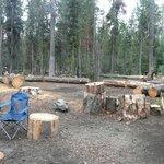 around campsite