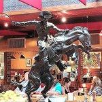 sculpture on bar