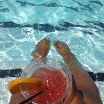 Enjoying my poolside Mai Tai. I got the best tan in San Diego!