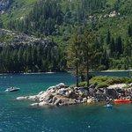 Kayakers in Emeral Bay