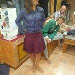 scottish skirt with designer shirt