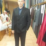 slim fit cashmere wool suit crease less
