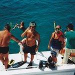 Dykförberedelser vid Giftun Island