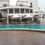 Pool area restaurant