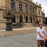 Segway stop at the Rudolfinum. Guide Ivan tells us about this music auditorium and that it was s