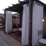 lounge area on roof terrace