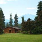 One of twenty Guest log cabins